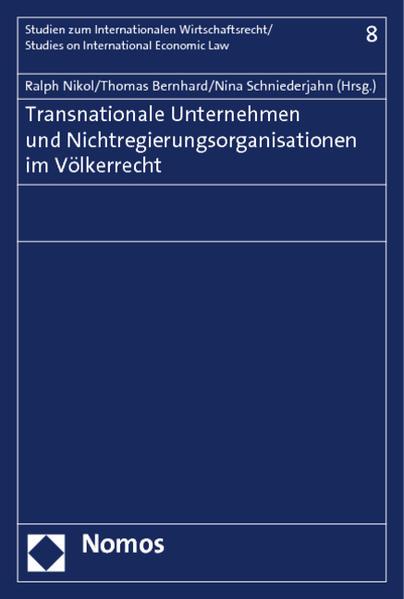 Transnationale Unternehmen und Nichtregierungsorganisationen im Völkerrecht - Coverbild