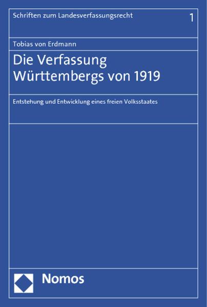 Die Verfassung Württembergs von 1919 - Coverbild