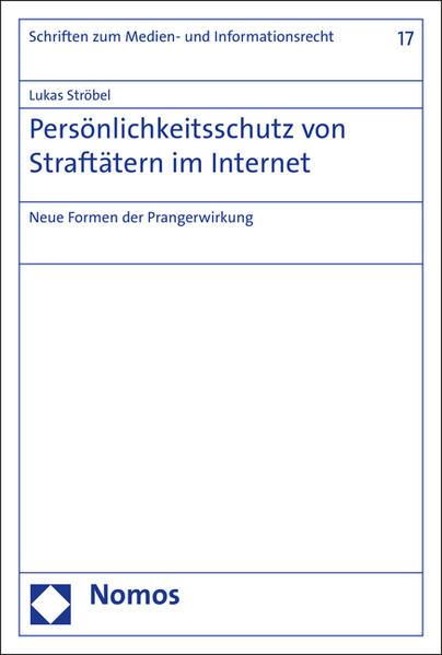 Persönlichkeitsschutz von Straftätern im Internet - Coverbild