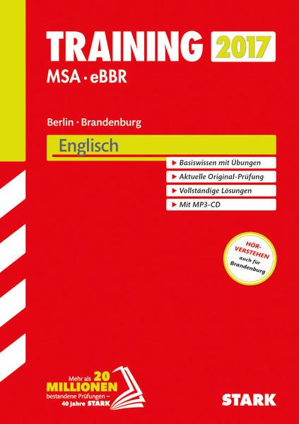 Training Mittlerer Schulabschluss Berlin - Englisch mit MP3-CD - Coverbild