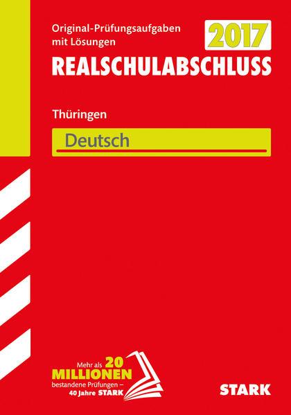 Abschlussprüfung Regelschule Thüringen - Deutsch Realschulabschluss - Coverbild