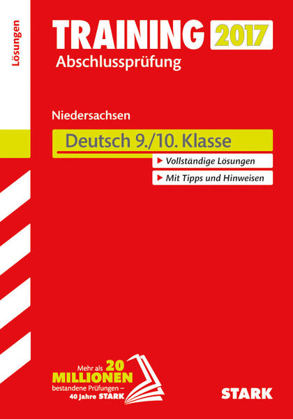 Training Abschlussprüfung Hauptschule Niedersachsen - Deutsch 9./10. Klasse Lösungen - Coverbild