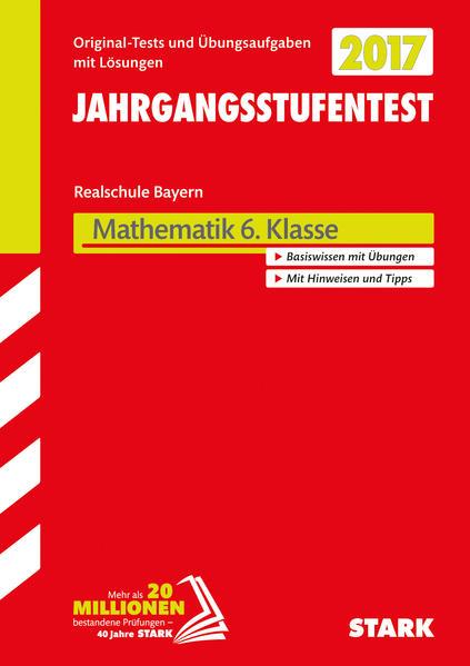 Jahrgangsstufentest Mathematik Bayern Realschule 6. Klasse - Coverbild