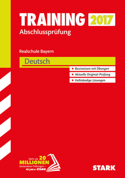 Training Abschlussprüfung Realschule Bayern - Deutsch - Coverbild