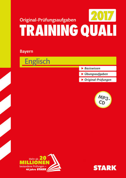 Training Quali Bayern - Englisch A4, mit MP3-CD - Coverbild