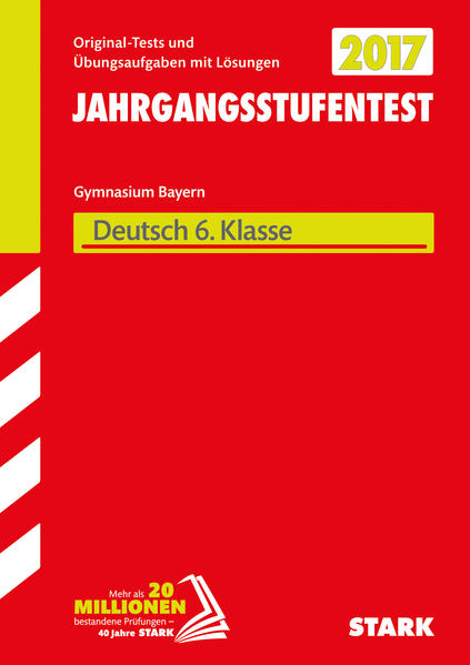 Jahrgangsstufentest - Gymnasium Deutsch 6. Klasse  Bayern - Coverbild