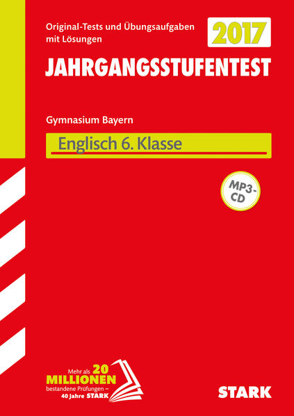 Jahrgangsstufentest Gymnasium Englisch 6. Klasse mit MP3-CD Bayern - Coverbild