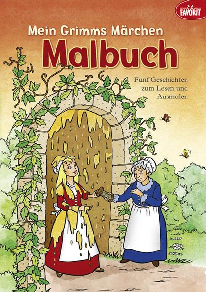 Mein Grimms Märchen Malbuch - Coverbild