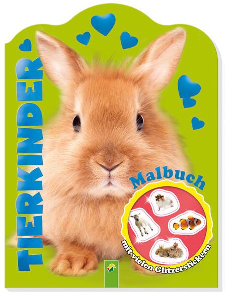 Glitzersticker-Malbuch Tierkinder (Hase) - Coverbild