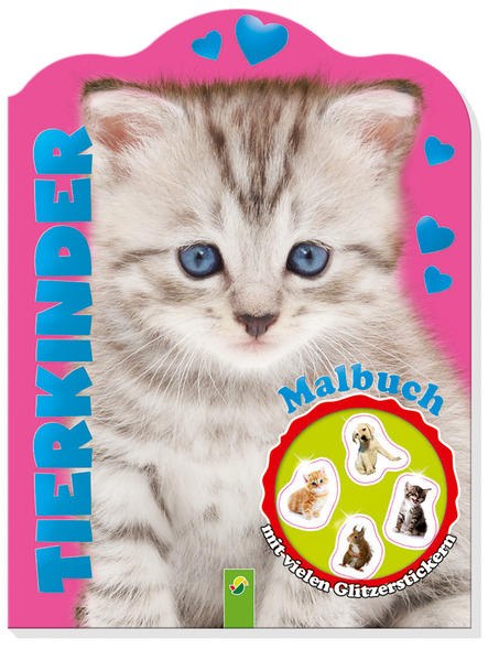 Glitzersticker-Malbuch Tierkinder (Katze) - Coverbild
