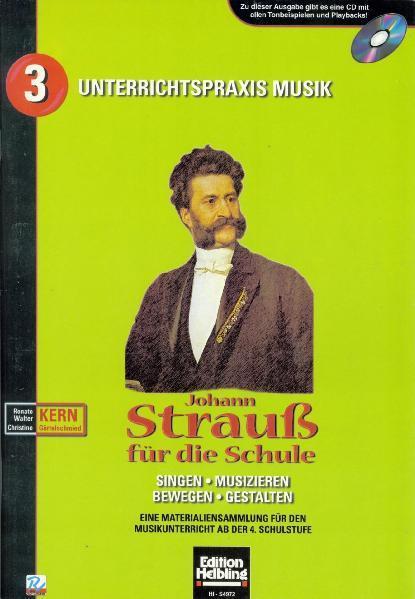 Johann Strauß für die Schule. Heft und AudioCD - Coverbild