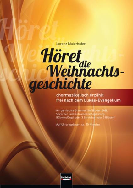 Höret die Weihnachtsgeschichte (SATB) - Coverbild