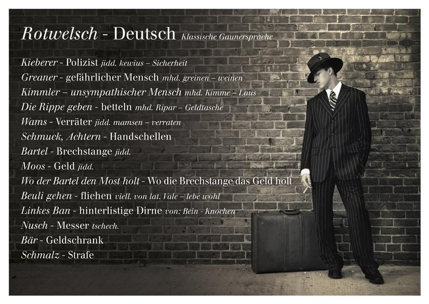 Rotwelsch - Deutsch (Klassische Gaunersprache) - Coverbild