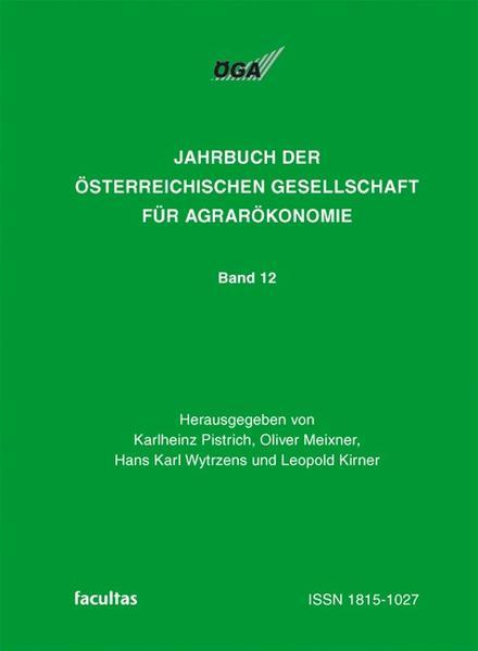 Jahrbuch der Österreichischen Gesellschaft für Agrarökonomie / Armut und Reichtum im ländlichen Raum - Coverbild