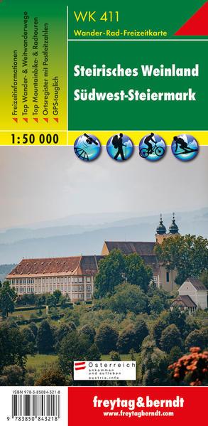 WK 411 Steirisches Weinland - Südwest-Steiermark, Wanderkarte 1:50.000 - Coverbild