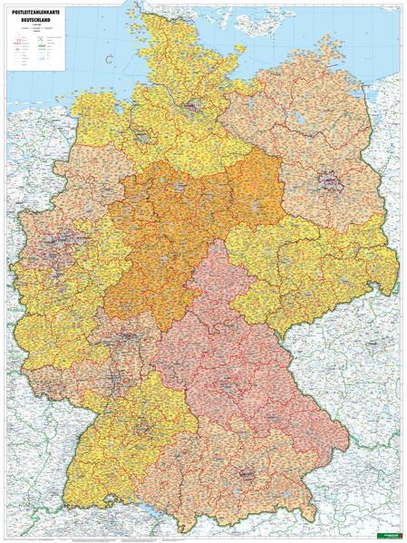 Deutschland Postleitzahlen, 1:700.000, Poster - Coverbild