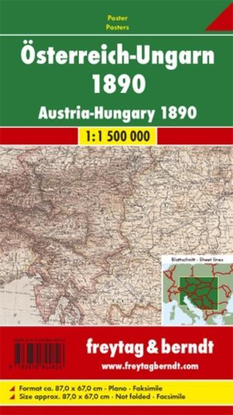 Österreich-Ungarn 1890, Faksimile, Poster - Coverbild