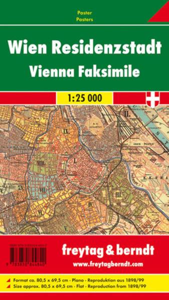 Wien Residenzstadt 1898/99, historische Karte, Poster - Coverbild