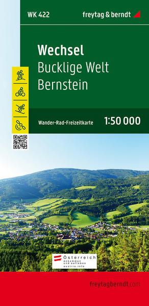 WK 422 Wechsel - Bucklige Welt - Bernstein, Wanderkarte 1:50.000 - Coverbild