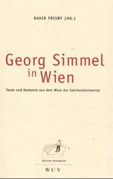 Georg Simmel in Wien - Coverbild