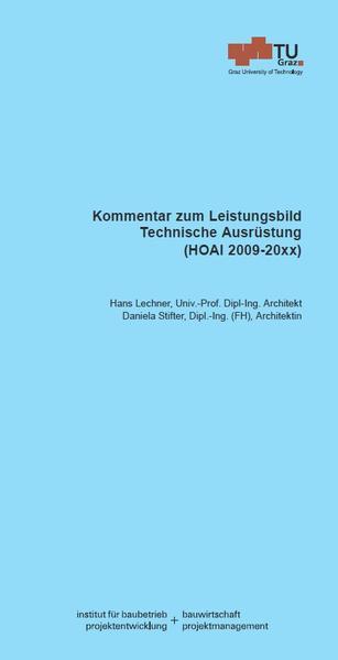 Kommentar zum Leistungsbild Technische Ausrüstung - Coverbild