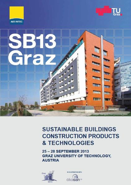 SB13 Graz; Sustainable Buildings, Construction Products & Technologies, Abstracts - Coverbild