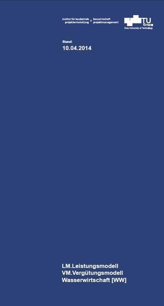 LM.Leistungsmodell VM.Vergütungsmodell Wasserwirtschaft [WW] - Coverbild