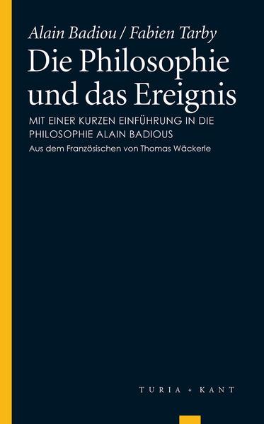 Die Philosophie und das Ereignis - Coverbild