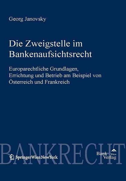 Zweigstelle im Bankaufsichtsrecht - Coverbild