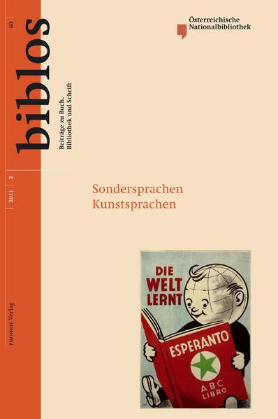Sondersprachen Kunstsprachen - Coverbild