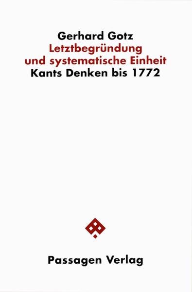 Letztbegründung und systematische Einheit - Coverbild