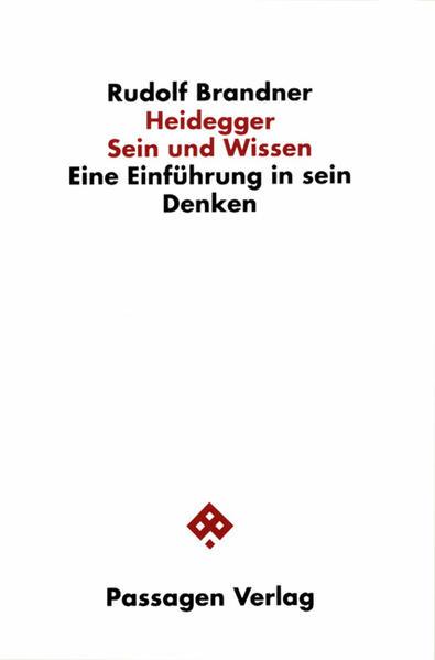 Heidegger. Sein und Wissen - Coverbild