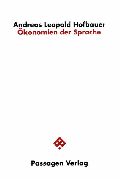 Ökonomien der Sprache - Coverbild
