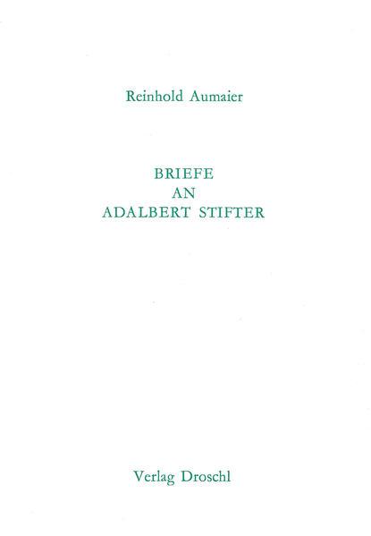 Briefe an Adalbert Stifter - Coverbild