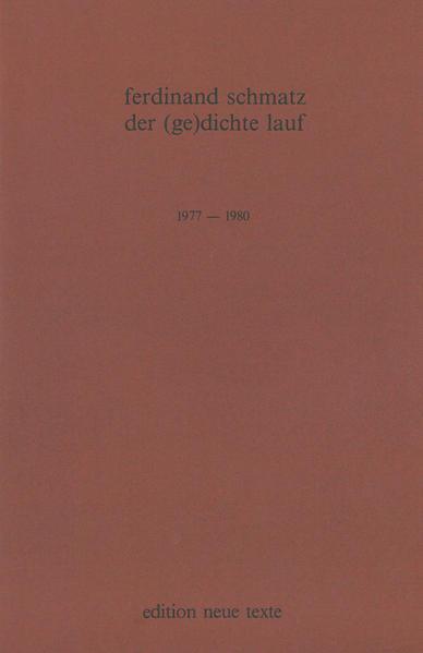 Der Gedichte Lauf - Coverbild
