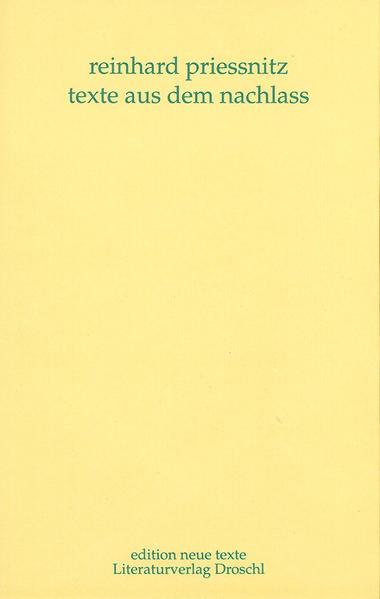 Werkausgabe / Texte aus dem Nachlass - Coverbild
