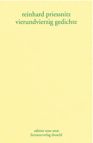 Vierundvierzig Gedichte - Coverbild