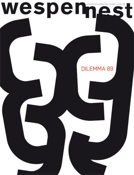 Wespennest. Zeitschrift für brauchbare Texte und Bilder / Dilemma 89 - Coverbild