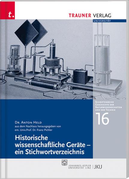 Historische wissenschaftliche Geräte - ein Stichwortlexikon - Coverbild