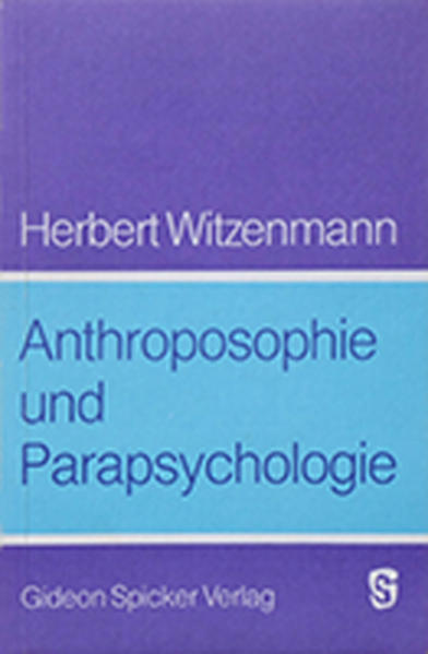Anthroposophie und Parapsychologie - Coverbild
