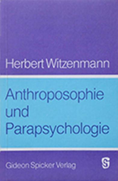 Anthroposophie und Parapsychologie - Coverbild