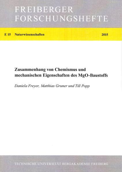 Zusammenhang von Chemismus und mechanischen Eigenschaften des MgO-Baustoffss - Coverbild