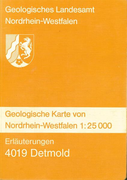 Geologische Karten von Nordrhein-Westfalen 1:25000 / Detmold - Coverbild