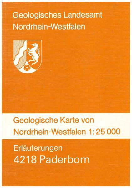 Geologische Karten von Nordrhein-Westfalen 1:25000 / Paderborn - Coverbild
