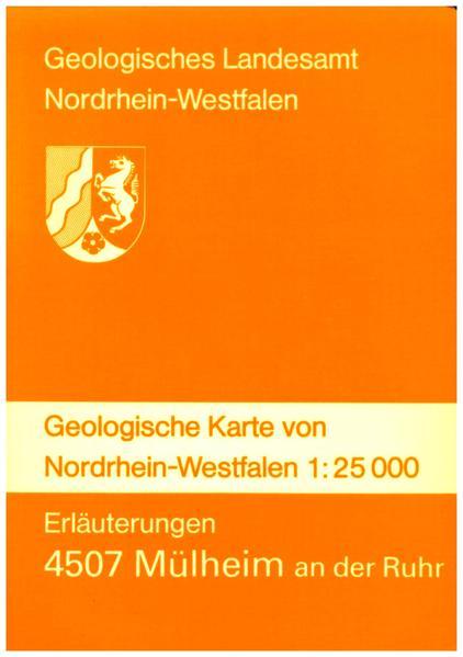 Geologische Karten von Nordrhein-Westfalen 1:25000 / Mülheim an der Ruhr - Coverbild