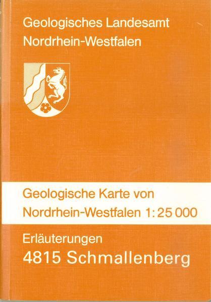 Geologische Karten von Nordrhein-Westfalen 1:25000 / Schmallenberg - Coverbild