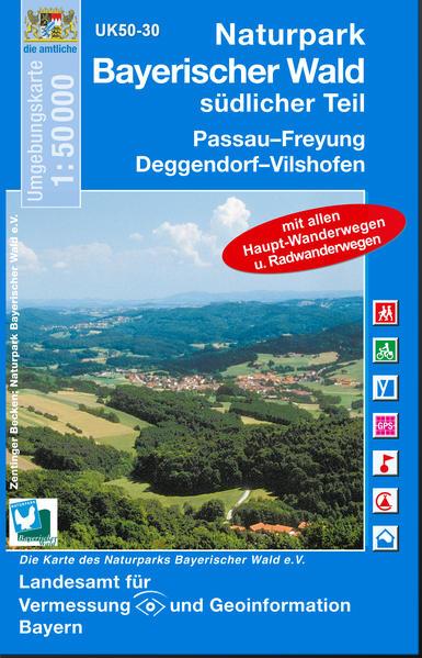 UK50-30  Naturpark Bayerischer Wald, südlicher Teil - Coverbild