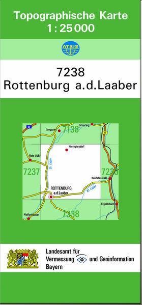 TK25 7238 Rottenburg a.d.Laaber - Coverbild