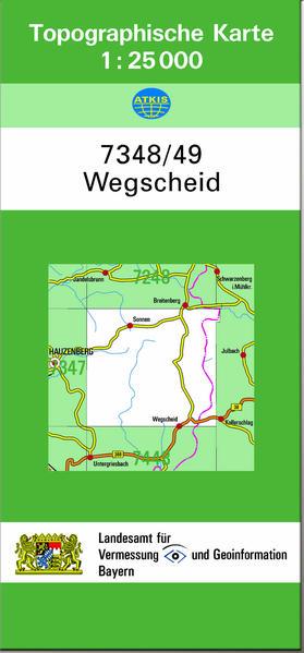 TK25 7348/49 Wegscheid - Coverbild
