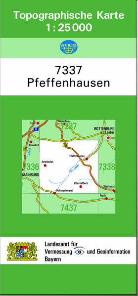 TK25 7337 Pfeffenhausen - Coverbild